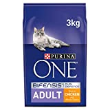 Purina ONE Coat & Hairball Dry Cat Food, Chicken, 3kg