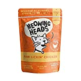 Meowing Heads Adult Cat Food Wet Pouches Variety Pack Natural with No Artificial Flavours Plus Added Vitamins and Minerals Chicken 10 x 100g