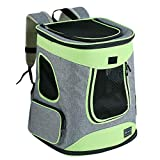 Petsfit Cat Backpack,Foldable Cat Carrier Backpack for Dogs and Cats,Cat Backpacks with Soft Fleece Mat and Storage Pocket, 43cm x 32cm x 29cm