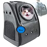 PETLUVER Dog Backpack Carrier, Cat Backpack for Large Cats 22 lbs (Airline Approved) Pet Carrier Backpack for Medium Dogs Cat Carrier Backpacks Bubble for Hiking Pet Backpack Carrier