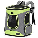 Petsfit Dog Carrier Backpack Portable Dog Backpack,Dog Rucksack Carrier with Side Pocket and Fleece Mat for Cats and Small Dogs