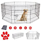 AVC Designs Pet Dog Pen Puppy Cat Rabbit Foldable Playpen Indoor/Outdoor Enclosure Run Cage (Large: Height 91cm)